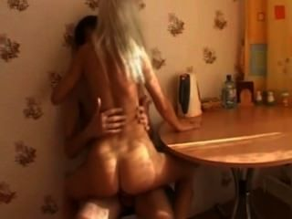Silly Bitchy Blonde Banged On The Table