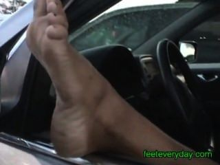 Girl With Hot Tan Shows Her Gorgeous Dirty Feet & Soles