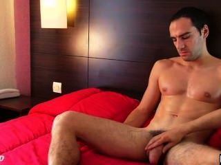 An Handsome French Firefighter Serviced: Ben Gets Wanked His Huge Cock !