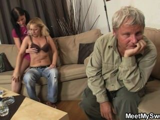 She Rides His Old Cock After Oral Prelude