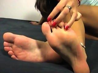 Cute Feet In Clear Platform Heels