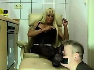 Blond Milf Nylon Feet Worship