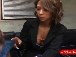 Hot Office Lady Giving Blowjob On Her Knees Cum To Mouth Swallowing On The