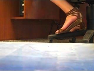 Candid College Teen Gladiator Sandals (no Faceshot)