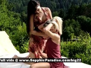 Sapphic Erotica Carie And Anetta Brunette And Blonde Lesbo Girls Have Sex O