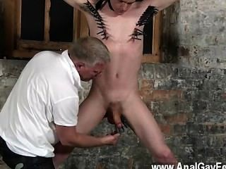 Twink Video With His Sensitive Balls Tugged And His Beef Whistle