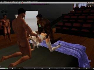 Second Life-virgin Bride Part 2 Wedding Gangbang