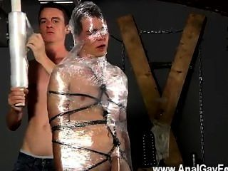 Gay Xxx Cristian Is Almost Swinging, Wrapped Up In Wire And Fettered To