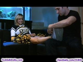 Cheerleader Feet Tickled