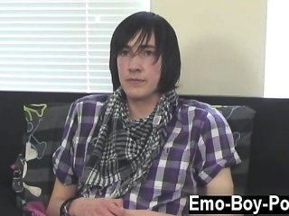 Gay Sex Adorable Emo Stud Andy Is New To Porn But He Soon Gets In To The
