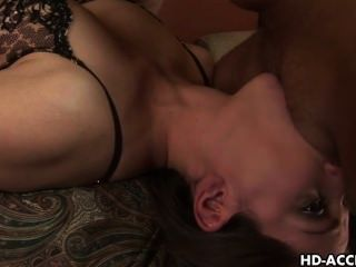 Cute Brunette Bobbi Starr Gags On A Cock