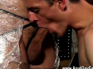 Gay Twinks Cristian Is Almost Swinging, Packaged Up In Strap And Shackled
