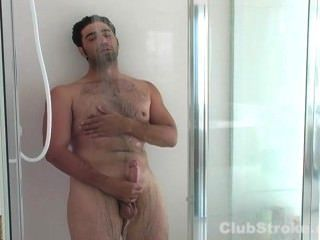 Straight Guy Johnny Masturbating His Giant Cock