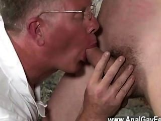 Hot Gay Sex With His Delicate Nuts Tugged And His Pecker Stroked And