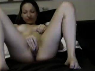 Horny Young Girl Masturbating And Cuming
