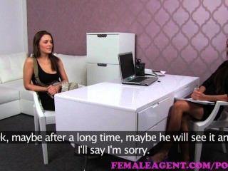 Femaleagent. Russian Bisexual Sex Bomb Explodes In Amazing Casting