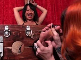 British Asian Girl Tickled
