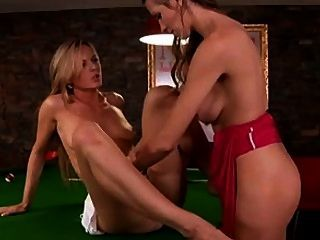 Sandra Sanchez And Eufrat Get Really Turned On When Playing Pool