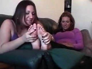 Two Chubby Cuties Take A Quick Sniff Of Each Others Feet
