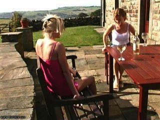 Blonde Slut Spanked Outdoors