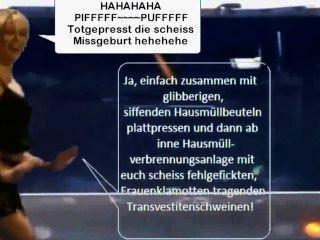 Bianca Bauchamp Latex Maid Show Scheiss Transvestitenschweine Ausrotten