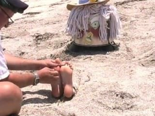 Cruel Tickle Torture At The Beach, Gagged And Blindfolded